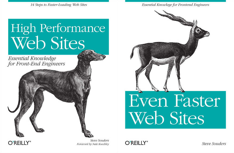 High Performance Web Sites and Even Faster Web Sites book covers