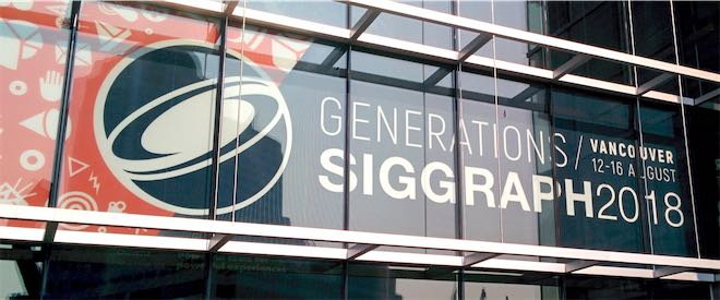 SIGGRAPH 2018 conference entrance